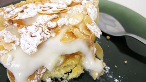 Detalle tarta de albaricoques